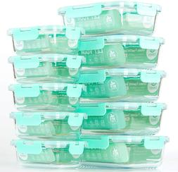 Glass Food Storage Containers with Lids, Airtight