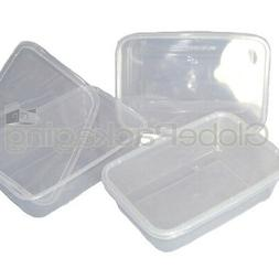 10 x PLASTIC 500ml MICROWAVE FOOD TAKEAWAY CONTAINERS
