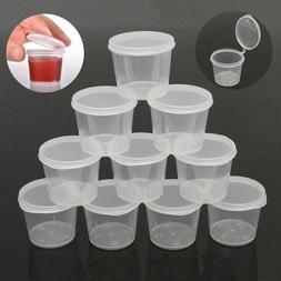 100Pcs Small Plastic Sauce Cups Food Storage Containers Clea