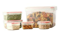 12 Pcs Plastic Mix Food Storage Containers Set With Air Tigh