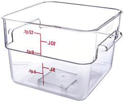 Cambro 12SFSCW 12 Qt. Square Food Storage Container