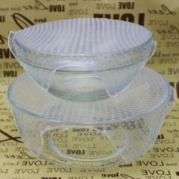 1pcs Silicone Lid Food Fresh Cover Plastic Wrap Home Kitchen