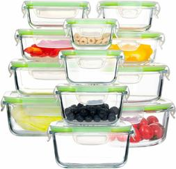 Glass Food Storage Containers with Lids,  Airtight Glass Sto
