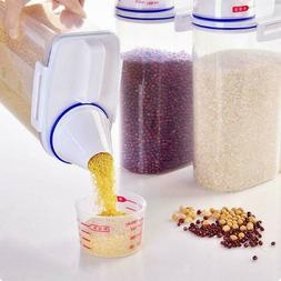 2L Plastic Cereal Dispenser Storage Box Kitchen Food Grain R