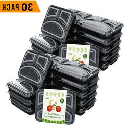30 Pack Meal Prep Containers Food Storage Bento Box 3 Compar
