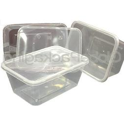 30 x PLASTIC 1000ml MICROWAVE FOOD TAKEAWAY CONTAINERS WITH