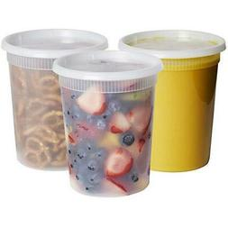 32 oz. Deli Food Storage Containers With Lids