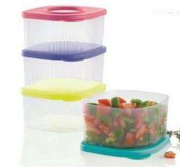 Tupperware 4 Small Fresh N Cool Food Storage Containers / Bo