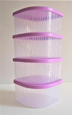 Tupperware 4 Small Fresh N Cool Set Food Storage Containers