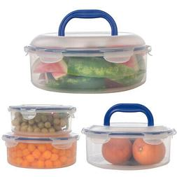 4pc Serve And Store Food Storage Containers With Lids Pie Ca