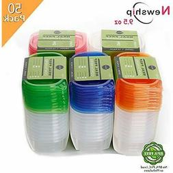 50 Bento Boxes Pack Small Food Storage Containers With Lids,