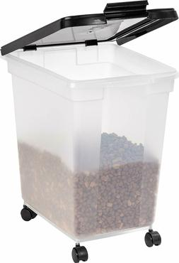 50 lb Pet Food Storage Container Dog Cat With Rolling Wheels