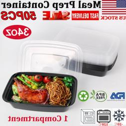 50 Pack Meal Prep Containers Microwave Safe Food Storage Fre