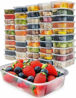50 Pc. Food Storage Containers Healthy Eathing Meal Prep Fri