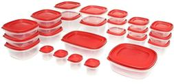 50-Piece Set Food Storage Container Easy Find With Lids Rubb