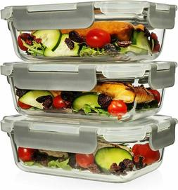 6 Piece 22 Oz Superior Glass Food Storage Containers  Retail