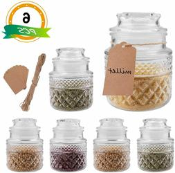6pcs 35oz Kitchen Food Storage Air Tight Glass Canister Set