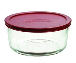 Anchor Hocking 7-Cup Round Food Storage Containers with Red