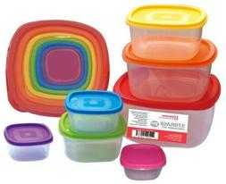 Home Basics 7-pc. Storage Container Set One Size Clear/multi
