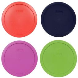 Pyrex 7402-PC Round 6/7-Cup Storage Lids for Glass Bowls, 4