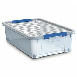 8pk Sistema 14 Liter Storage Containers With Hinge Clip Lids