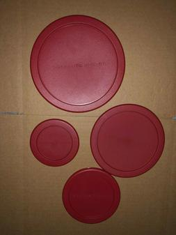 Anchor Hocking Food Storage Red Plastic Lid - Round Replacem
