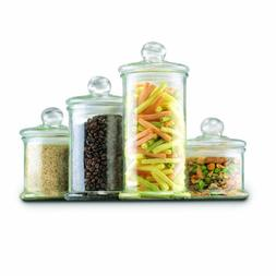 Anchor Hocking Glass Apothecary Jar Canister Set with Ball L