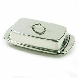 Norpro Stainless Steel Double Covered Butter Dish