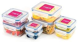 Popit Food Storage Containers 16 Piece Set, 100 Leak Proof -