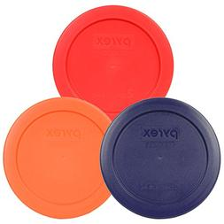Pyrex 7200-PC 2 Cup Round Storage Lid/Cover Red Blue Orange