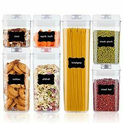 Airtight Food Storage Containers,Plastic Cereal Containers w