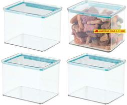 Mdesign Airtight Stackable Plastic Kitchen Cabinet Pet Food