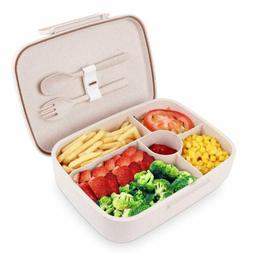 Bento Lunch Box Microwave Food Storage Container Leakproof w