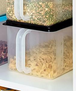 Black Bulk Storage Handled Bin Pantry Cabinet Food Container