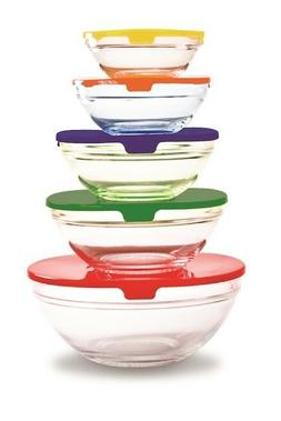 Farberware Bowls 10 Piece Set Snap-Tight Lids BPA Free Food