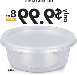 BPA Free Food Containers | 15 Pack 8oz Leakproof Plastic Sto
