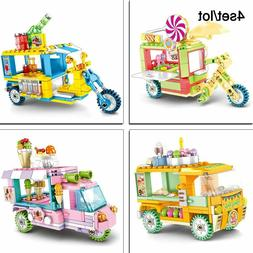 Building Block Toys For Children Store On Wheels Drink Food