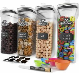 Cereal Container Storage Set - Airtight Food Storage Contain