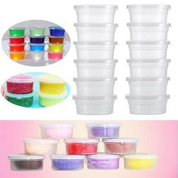 Clear Slime Storage Containers Foam Ball Storage Cups Contai