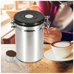 Coffee Canister Stainless Steel Storage Container With Scoop