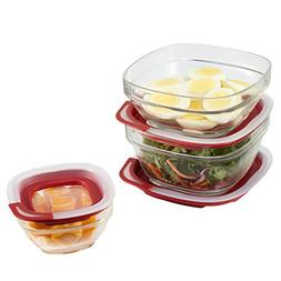Rubbermaid Easy Find Lid Glass Food Storage Container, 6-Pie