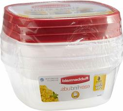 Rubbermaid Easy Find Lids Food Storage Containers, Racer Red