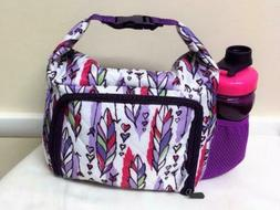 Fit & Fresh Feather Toss Insulated Lunch Box Bag  w/ Contain