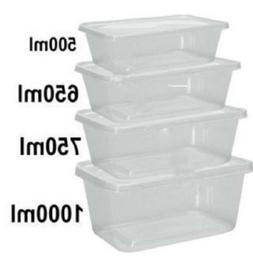 Food Containers Plastic Takeaway Microwave Freezer Safe Stor