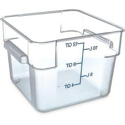 Carlisle Food Storage Container Box 12 qt Clear 1072407 Case
