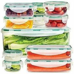 Food Storage Containers set of 11, Clear Airtight Snap Lock