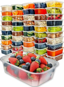 Food Storage Containers with Lids Meal Plastic Deli Freezer