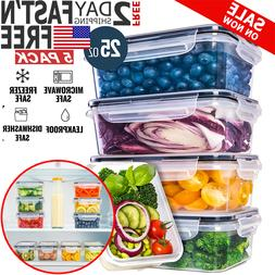 Food Storage Containers with Lids Plastic Leak Proof Lunch S