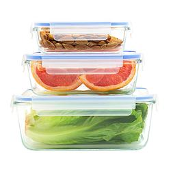 Glass Food Storage Containers Set with Locking Lids Airtight