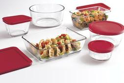 Anchor Hocking Glass Food Storage Containers w/ Lids Airtigh
